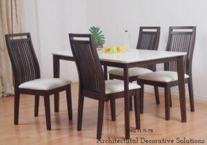 bàn ăn 4 ghế nâu