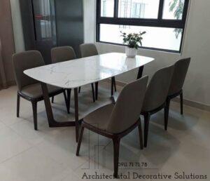bàn ăn 6 ghế mặt đá