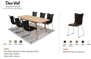 bàn ghế ăn cao cấp giá rẻ