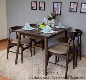 bộ bàn ăn 4 ghế 501t nâu