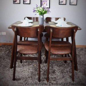 bộ bàn ăn 4 ghế 502t nâu