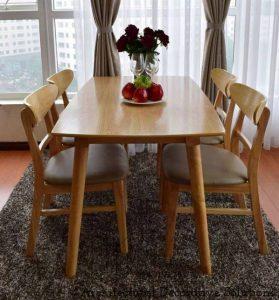 bộ bàn ăn 4 ghế 502t vàng
