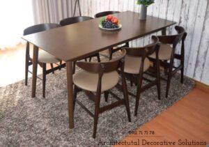 bộ bàn ăn 6 ghế 501t nâu